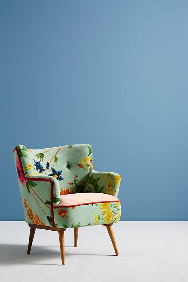 Floret Velvet Occasional Chair