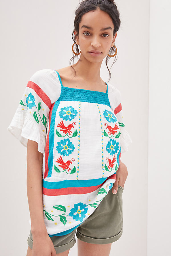 Seen Worn Kept Embroidered Tunic Blouse