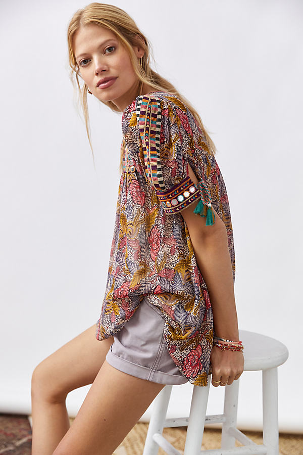 Verb by Pallavi Singhee Embroidered Tunic Blouse