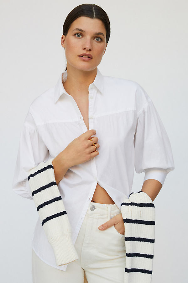 Maeve Poplin Buttondown Shirt