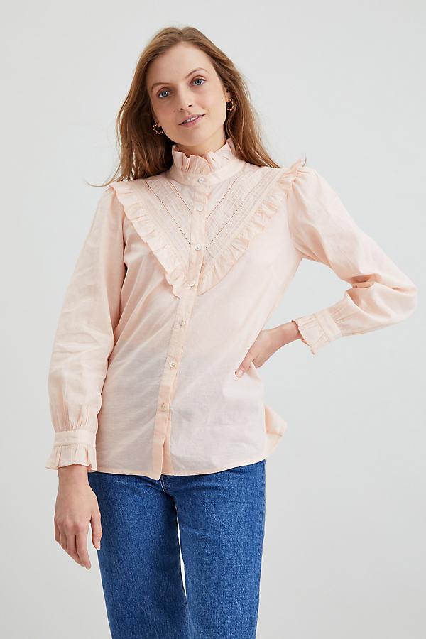 Dilli Grey Victoriana Ruffle Shirt