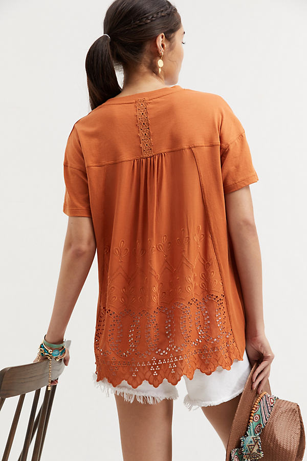 Tiny Embroidered Eyelet Top