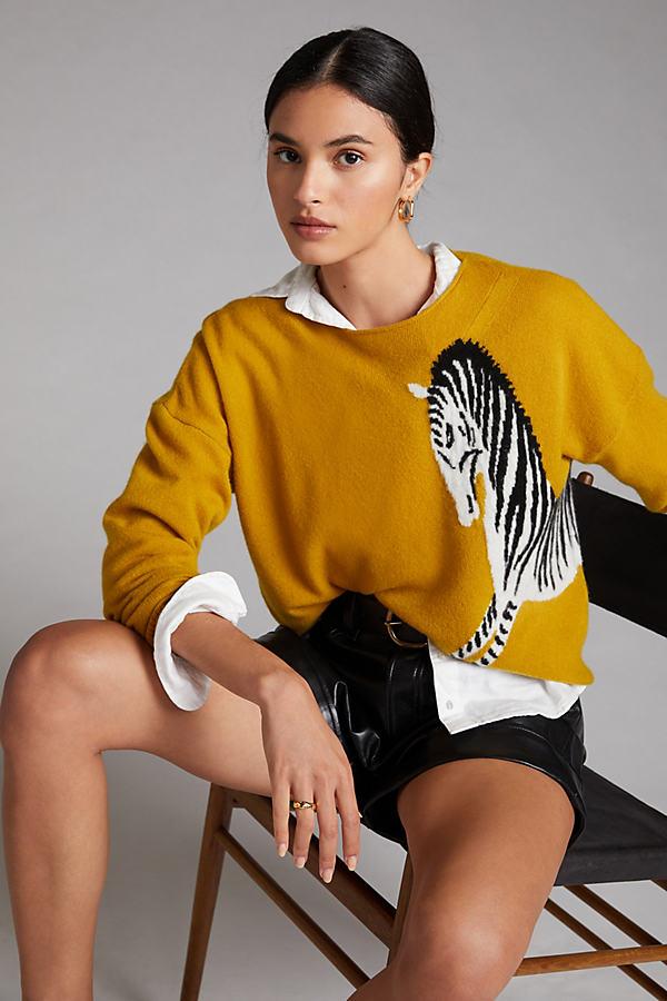 Maeve Zebra Cashmere Jumper