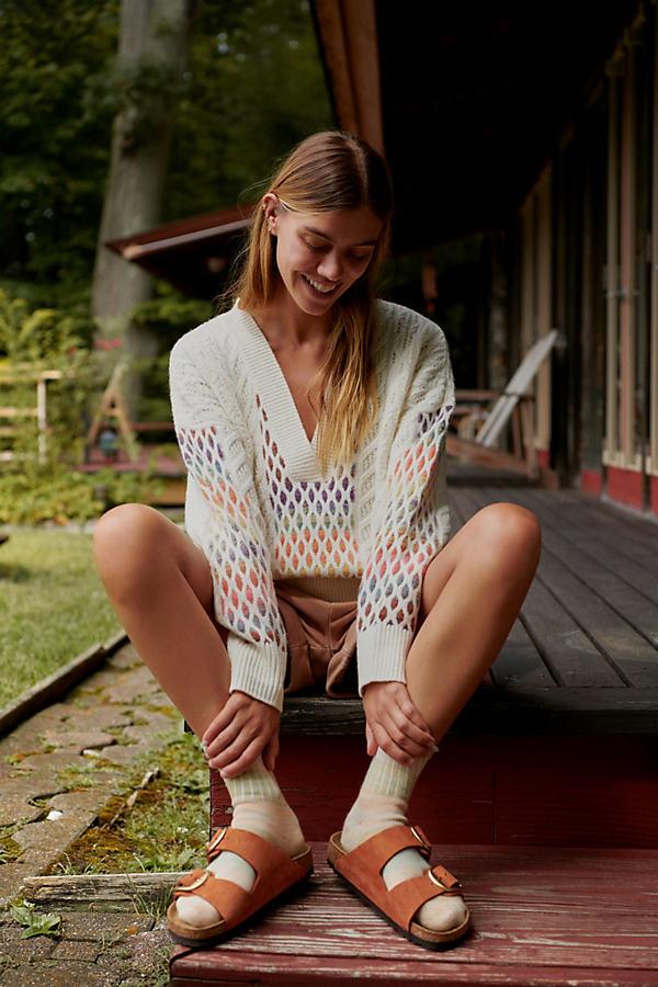 Maeve V-Neck Cable-Knit Wool Jumper