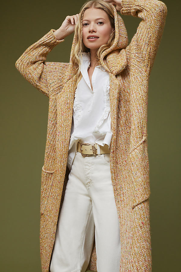 Pilcro Hooded Duster Cardigan
