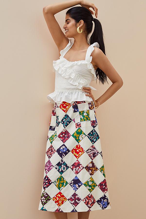 Tiny Patchwork Midi Skirt