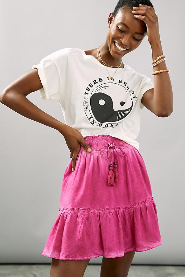 Pilcro Tie-Dye Skater Mini Skirt
