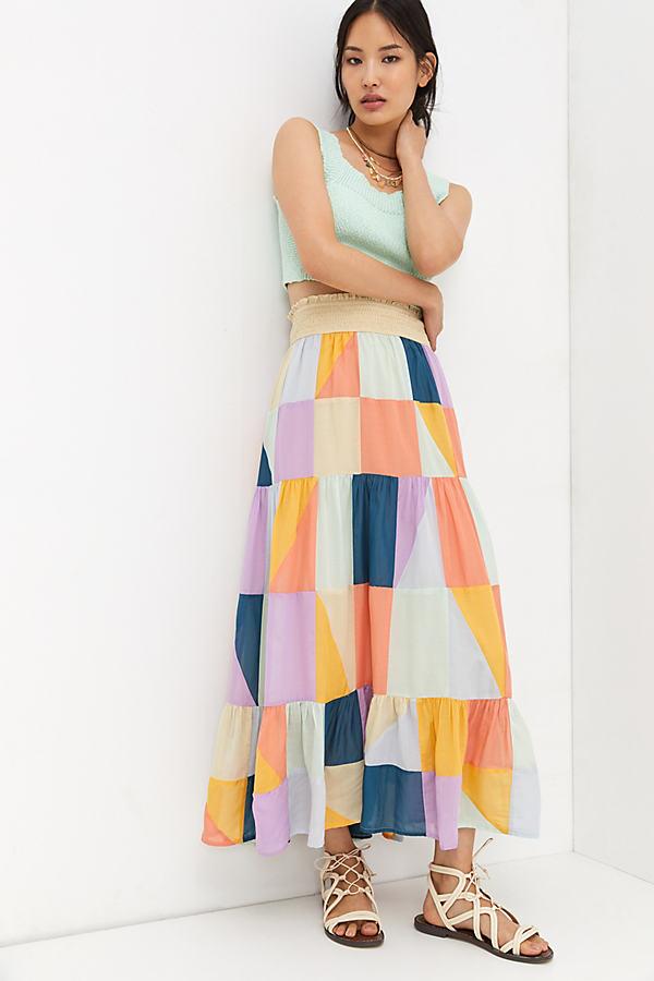 Patchwork Maxi Skirt