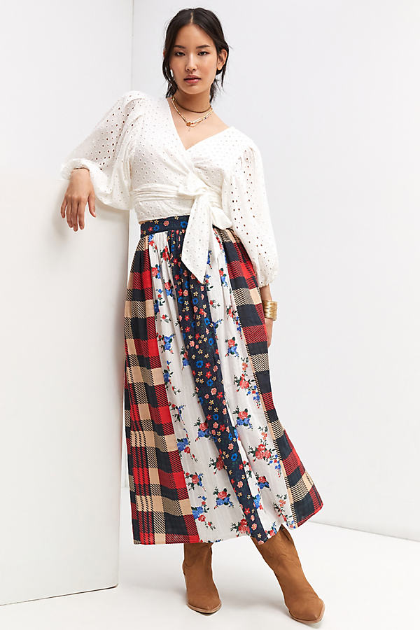 Let Me Be Contrast Maxi Skirt