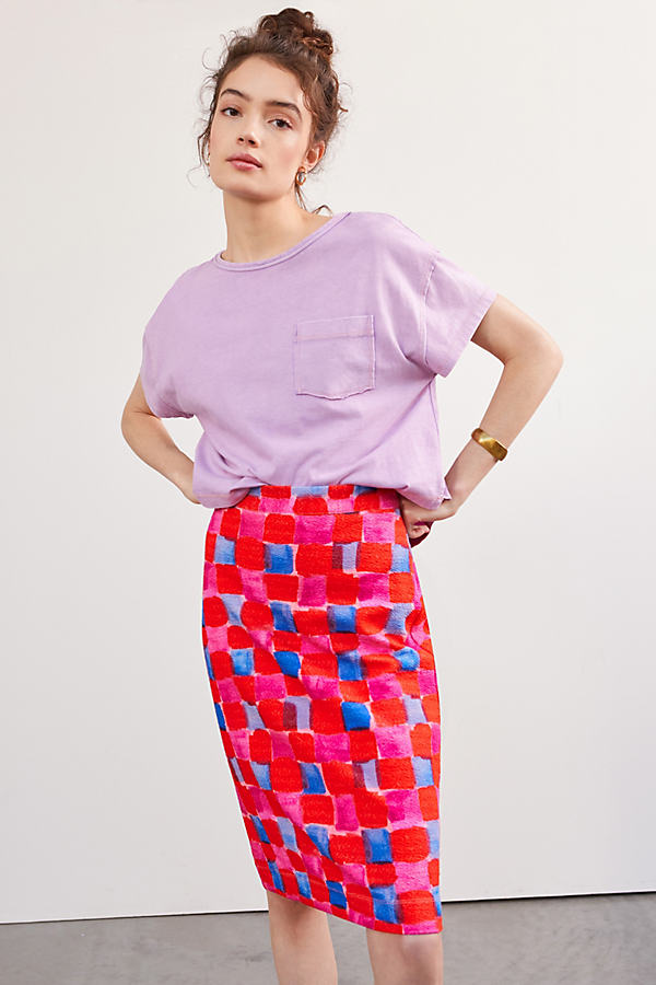 Maeve Slim Knit Mini Skirt