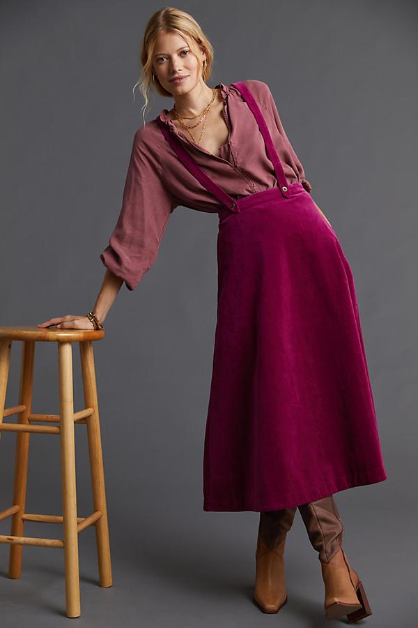 Corduroy Pinafore Skirt