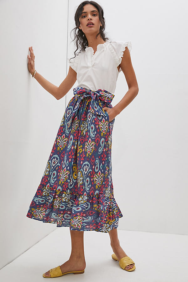 Edith Print Midi Skirt