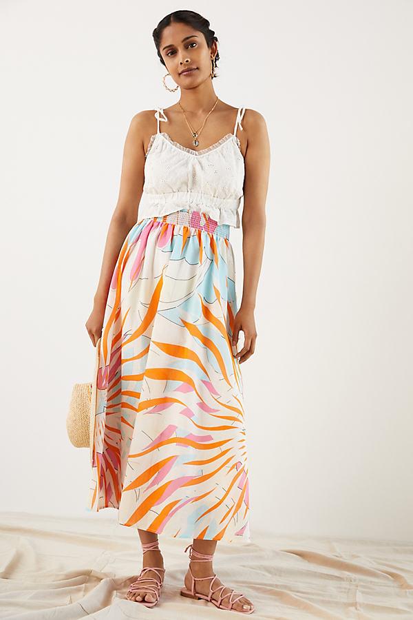 Maeve Floral Burst Maxi Skirt