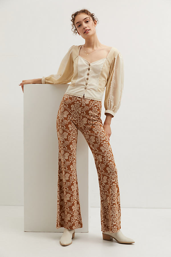 Knit Flare Trousers