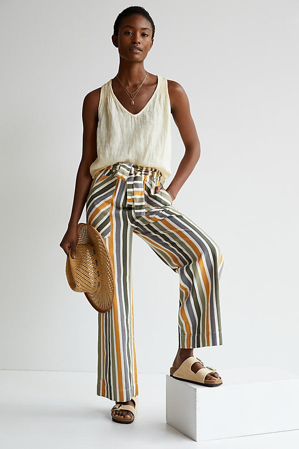 Maeve Paperbag Wide-Leg Trousers