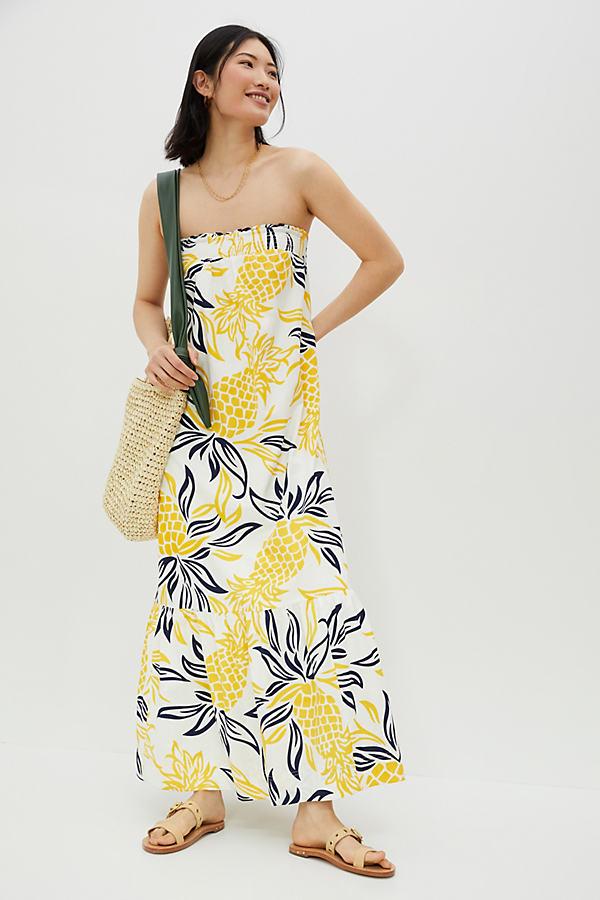 Floral Flounced Maxi Dress