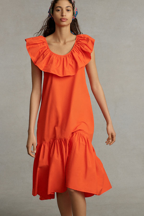 WHIT TWO Flouncy Ruffled Maxi Dress