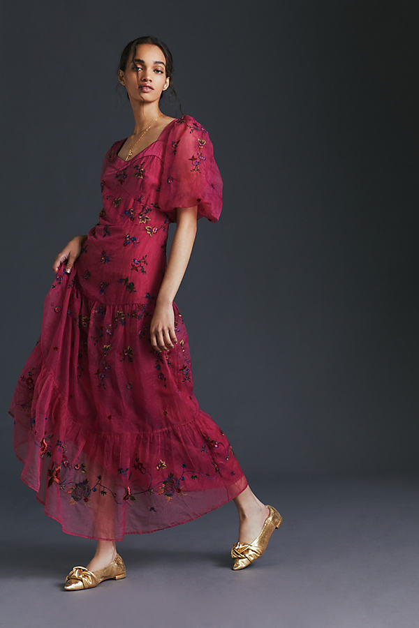 Let Me Be Embroidered Maxi Dress