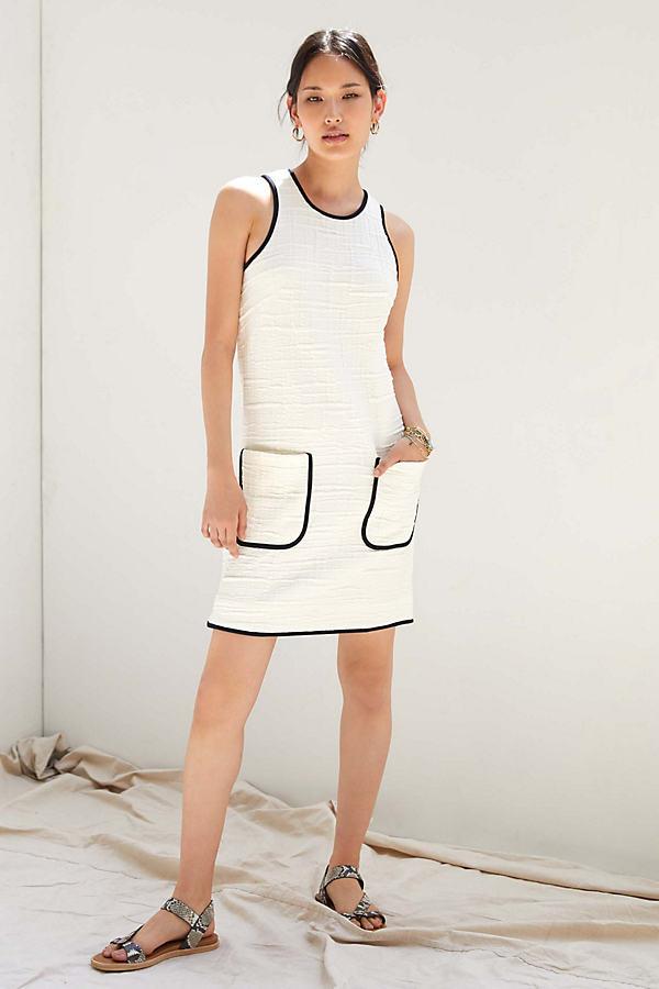 Maeve Patch-Pocket Mini Dress