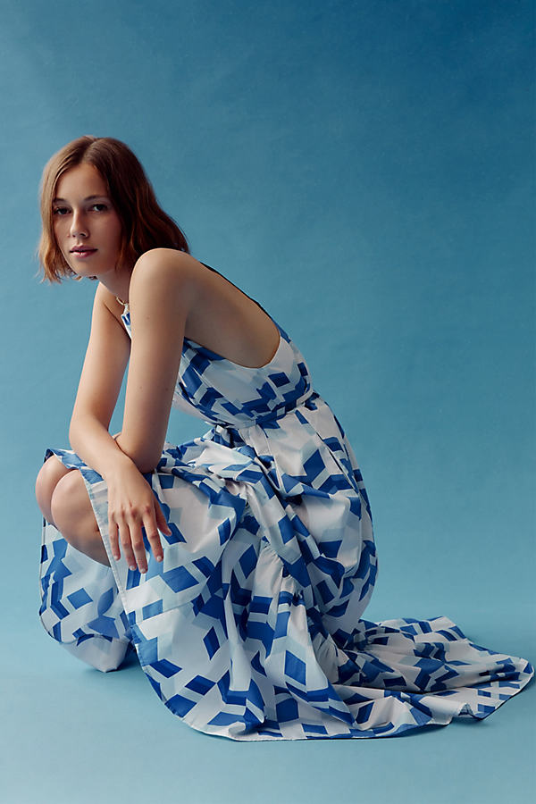 Peter Som for Anthropologie Larissa Tiered Maxi Dress
