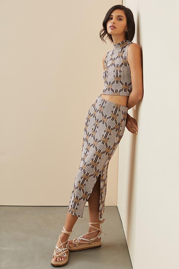 Jacquard Knit Skirt Set