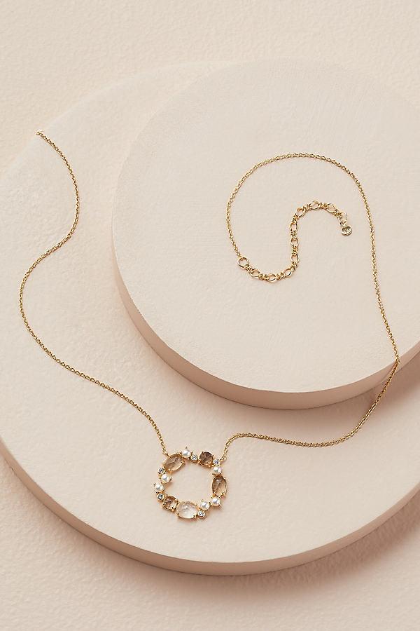 Amie Circle Birthstone Necklace