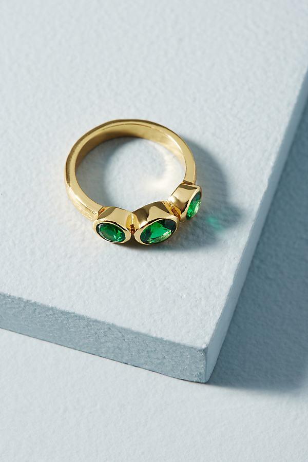 Shyla Nadine Three-Crystal Ring