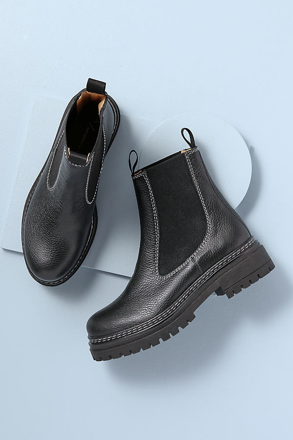 Chunky Stitch Chelsea Boots