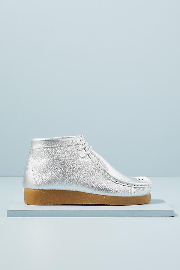 Metallic Platform Boots