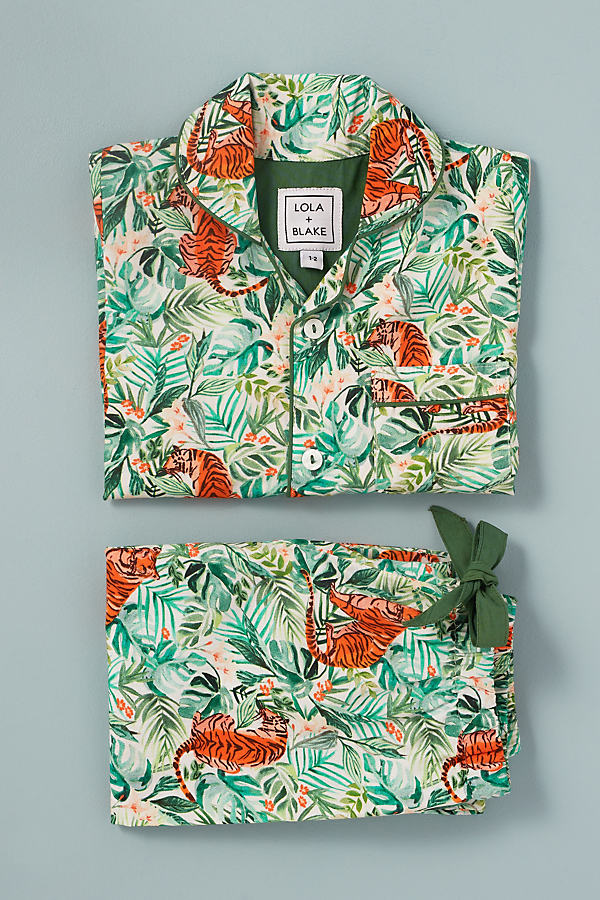 Lola + Blake Jungle-Print Kids Pyjamas