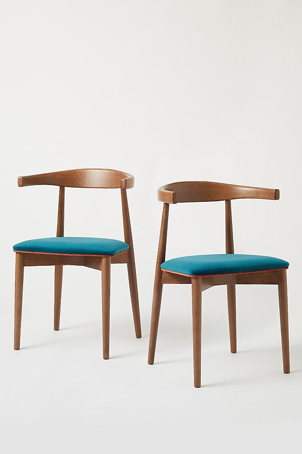 Set of 2 Abby Velvet Chairs