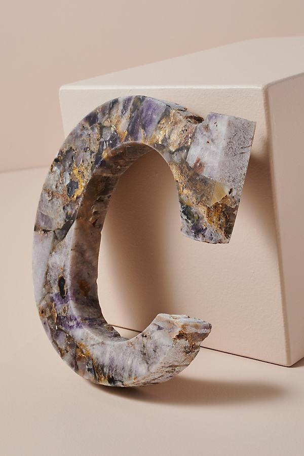 Agate Monogram Letter