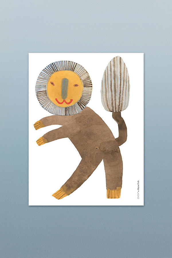 Standing Lion Poster