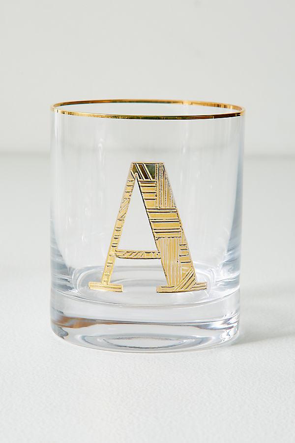 Gilded Monogram Glass