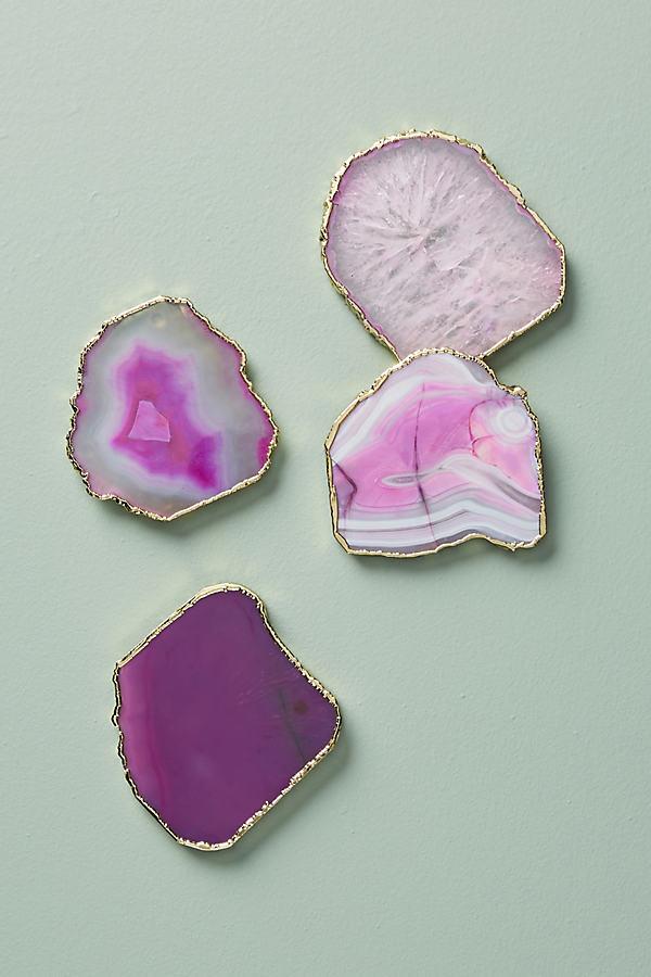 Slivered Geode Coaster