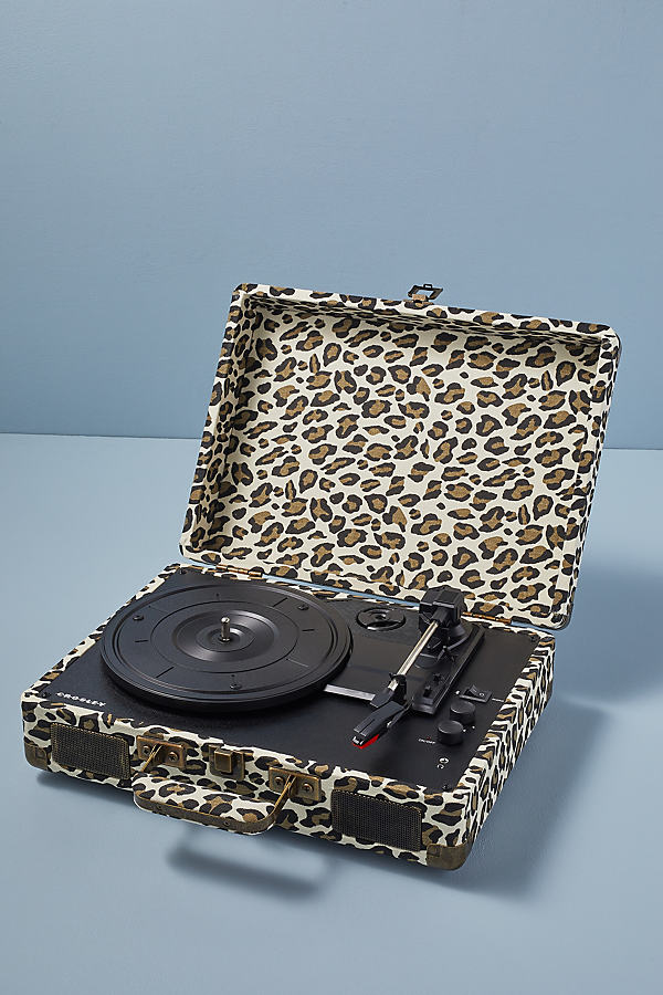 Crosley Cruiser Leopard Print Vinyl Record Player