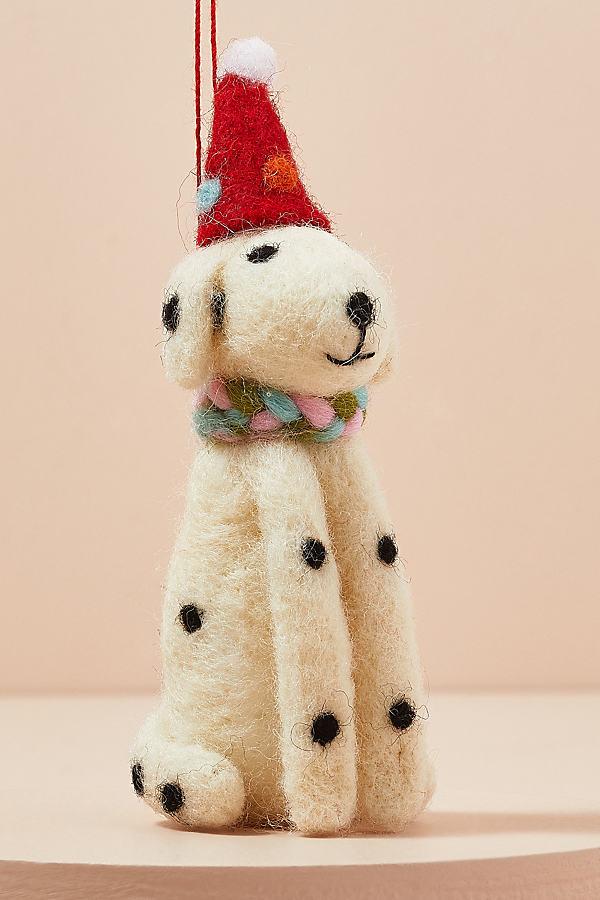 Spotty Dog with Hat Tree Decoration