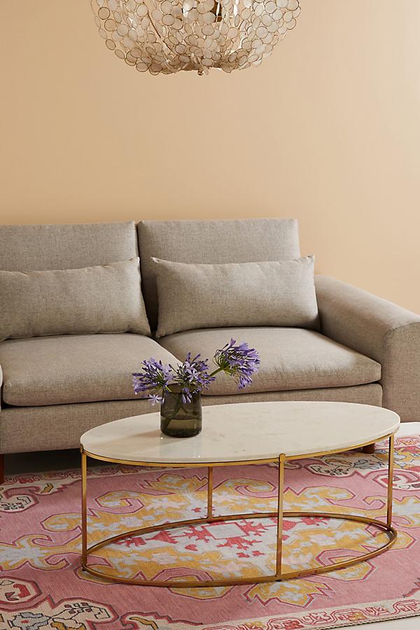 Leavenworth Oval Marble Coffee Table