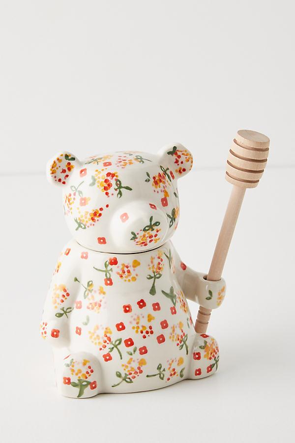 Floral Bear Honey Pot