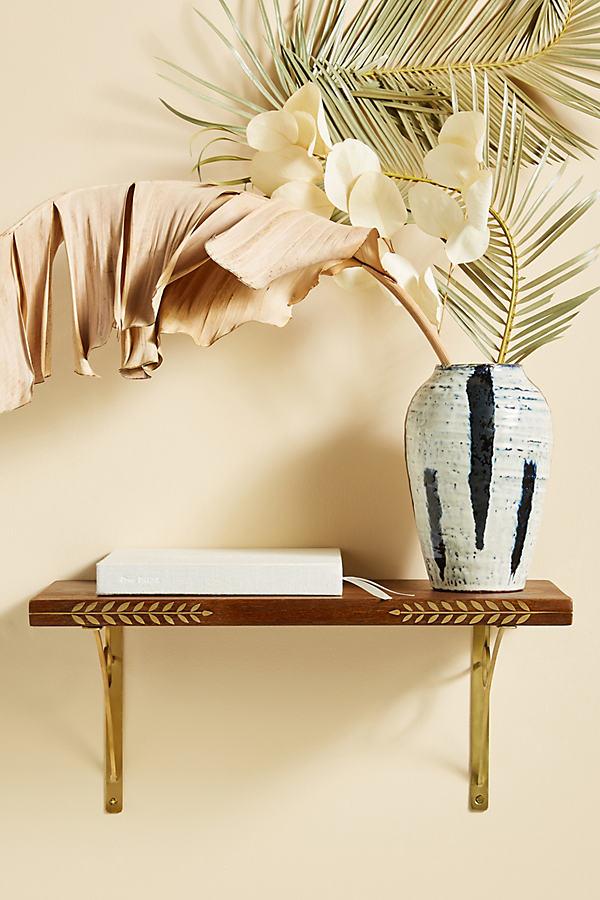 Willow Brass Inlay Shelf