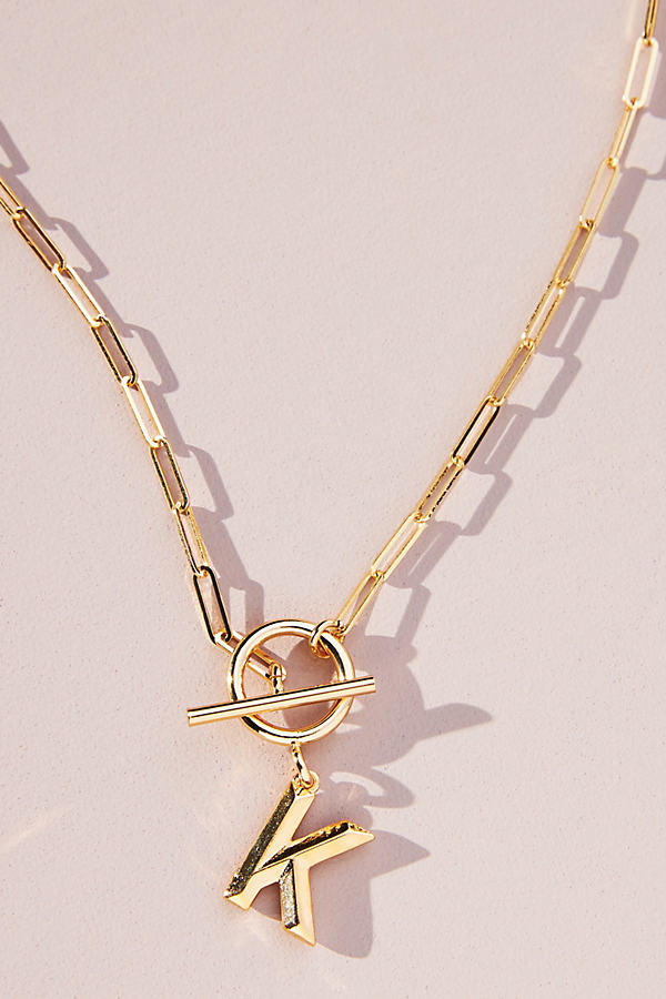 Chubby Toggle Monogram Necklace
