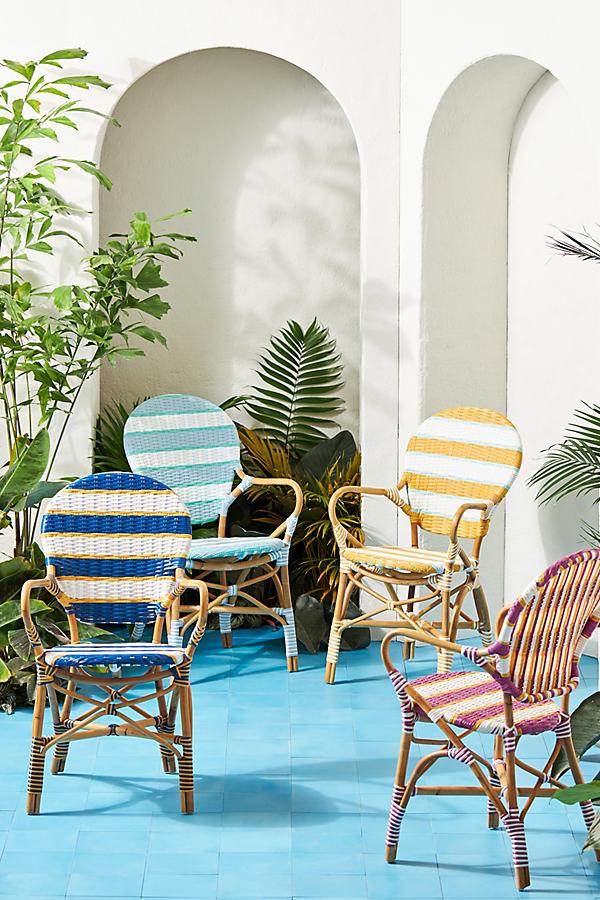 Belmar Striped Indoor/Outdoor Bistro Chair