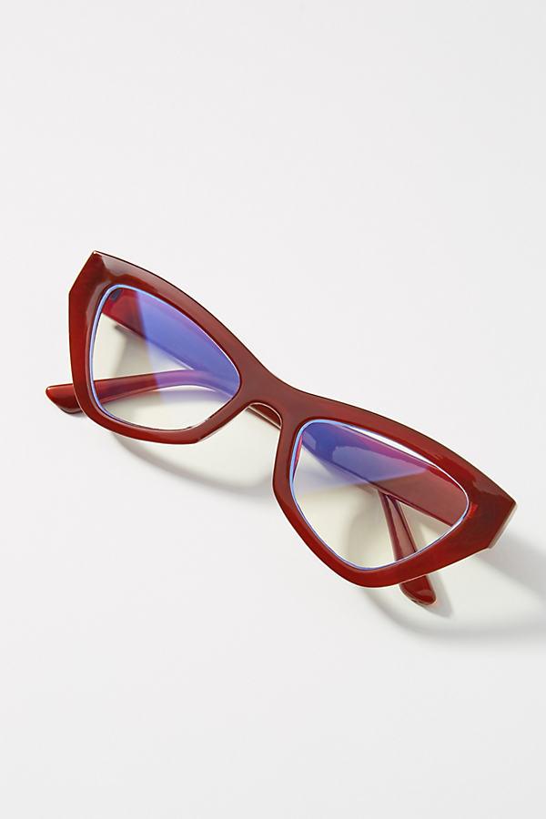 Red Cat-Eye Glasses