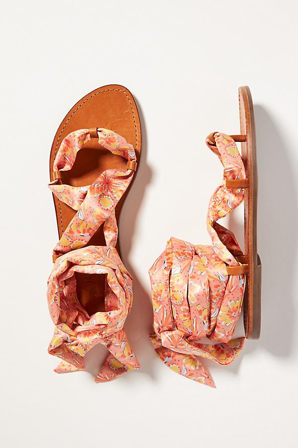 Vera for Anthropologie Scarf Gladiator Sandals