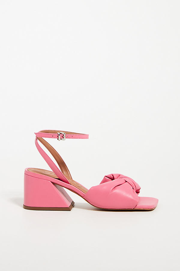 Puffy Knotted Heeled Sandals