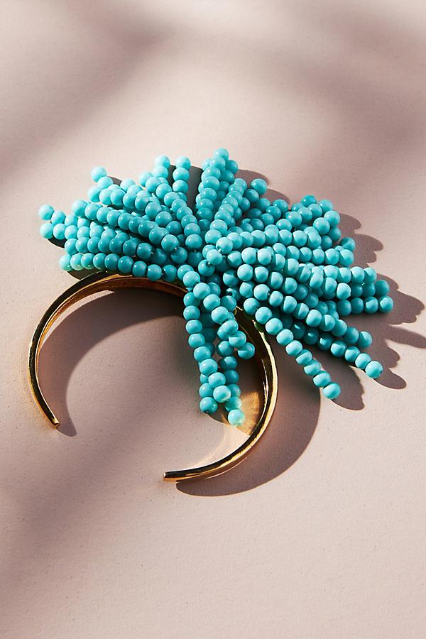 Beaded Fringe Cuff Bracelet
