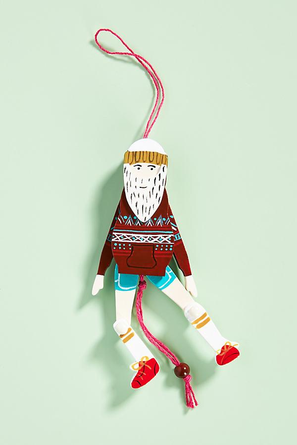 Sporty Santa Marionette Tree Decoration
